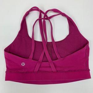 Lululemon Pink Strappy Energy Bra Size 6